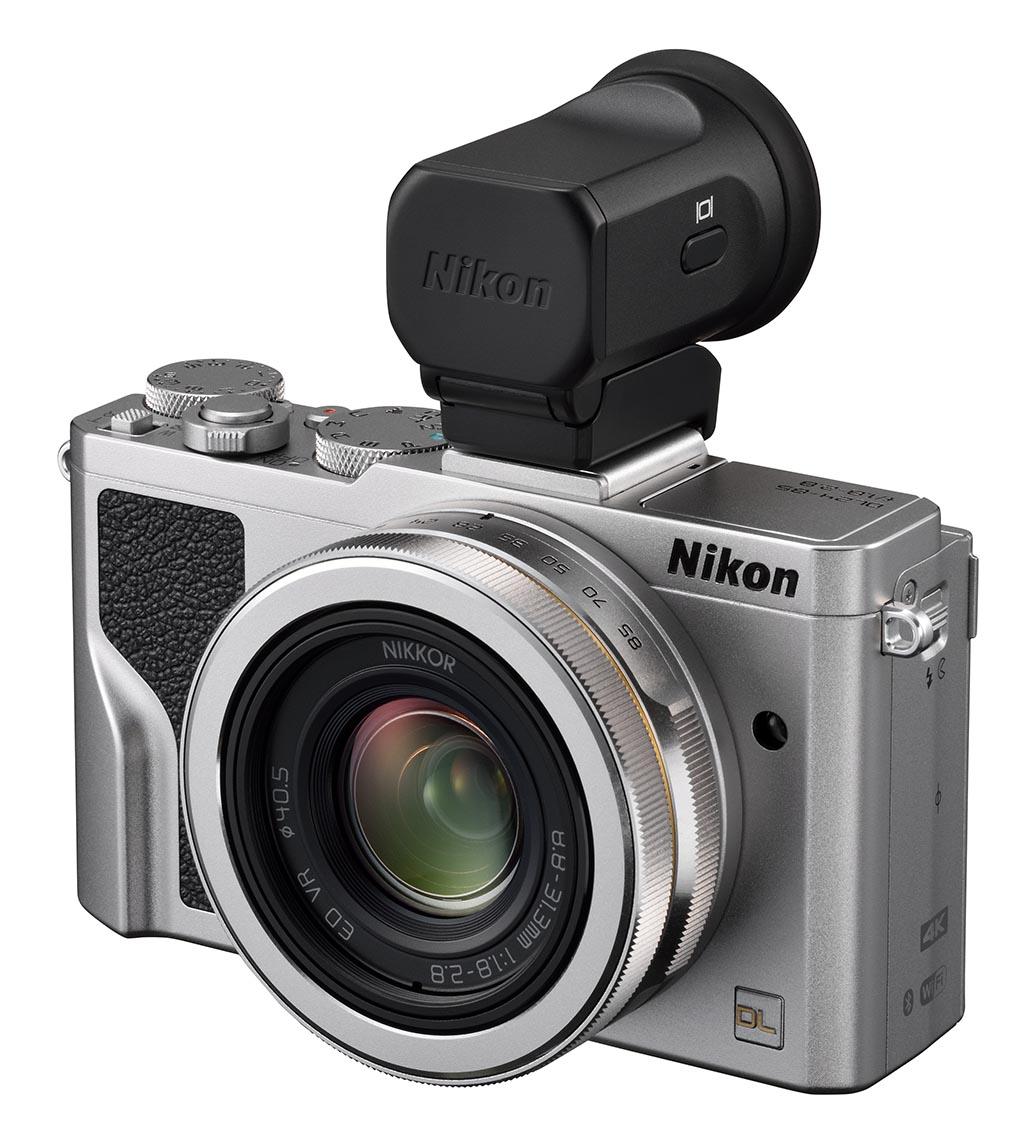 SØKER: Nikon DL24-85 med ekstern elektronisk søker. (Foto: Nikon)