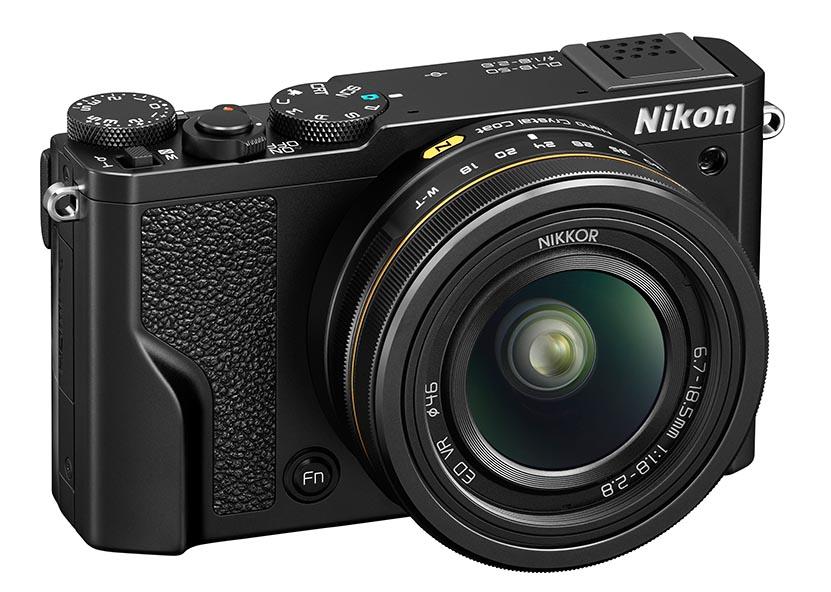 GATEKAMERA: Nikon DL18-50 byr på et litt uvanlig brennviddeomfang. (Foto: Nikon)