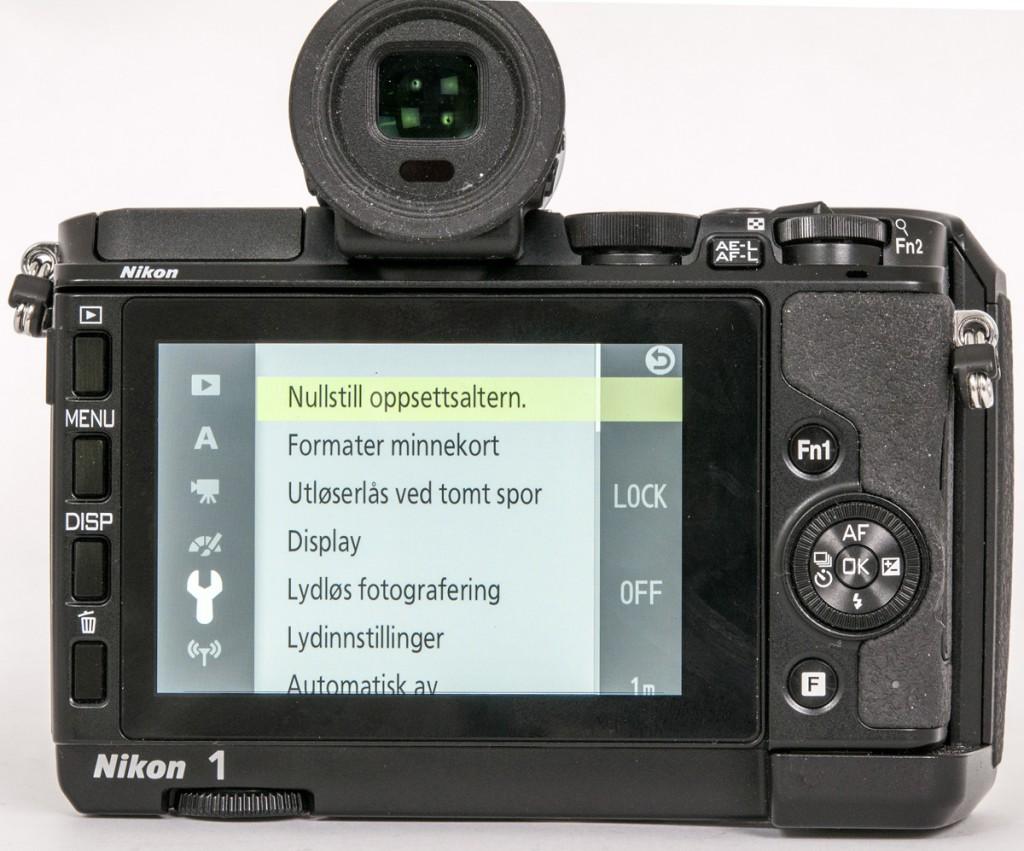 OVERSIKTLIG: Nikon 1 V3 byr på et ganske oversiktlig menysystem.