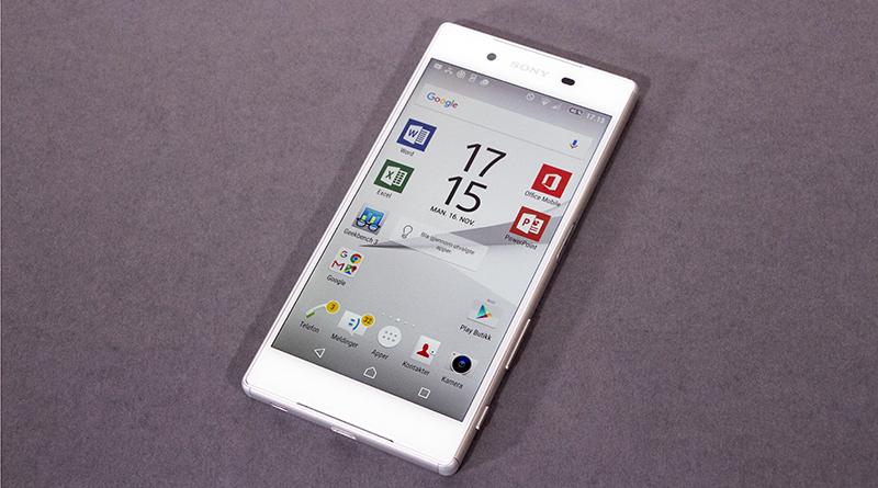 FLAGGSKIP: Selv om Sony også kan by på en større Xperia med Z5 i navnet, er Xperia Z5 også verdig flaggskipsbetegnelsen. (Foto: Toralv Østvang)