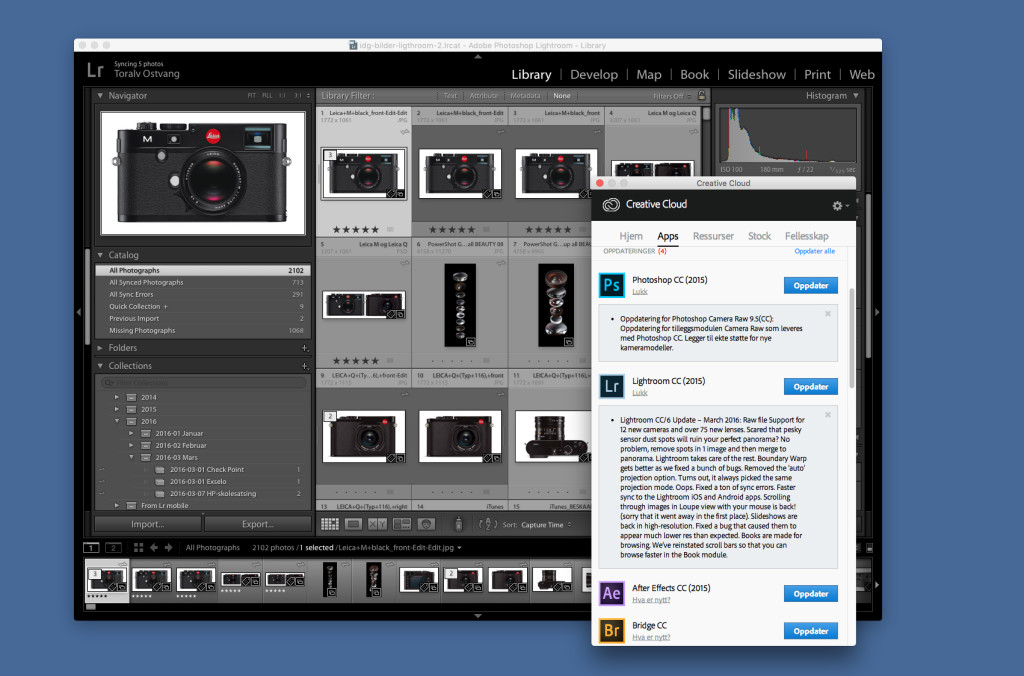 OPPDATERING: Adobe er klar med Camera Raw 9.5.