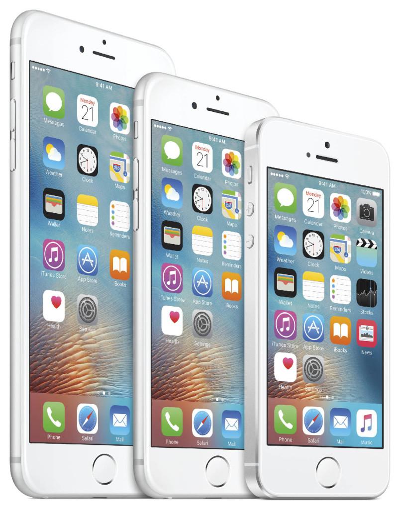 iPhone-familien