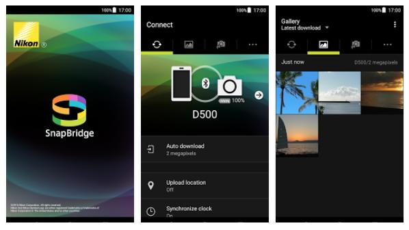 NIKON OG ANDROID: Slik ser SnapBridge-appen for Android ut. (Skjermdump: Google Play)