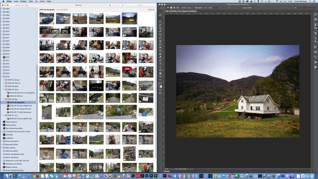ENDELIG PHOTOSHOP-KOMPATIBEL: Nå kan man åpne bilder i Apples Bilder-program direkte i Photoshop. (Alle skjermdumper: Toralv Østvang)