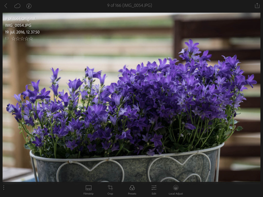 Lightroom Mobile - iPad