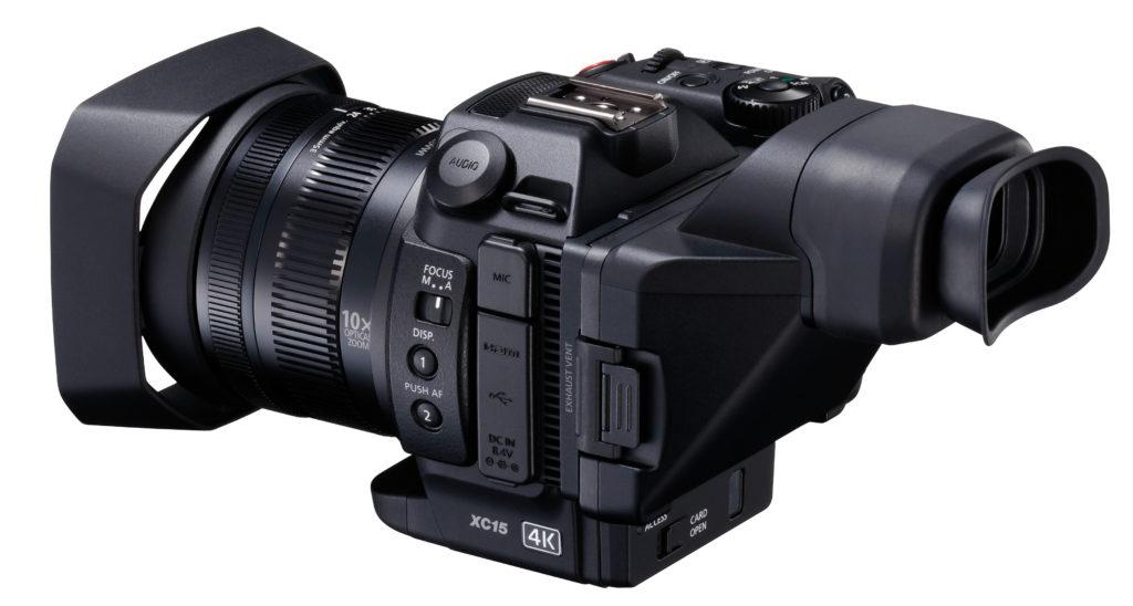 Canon XC15 med lupesøker.