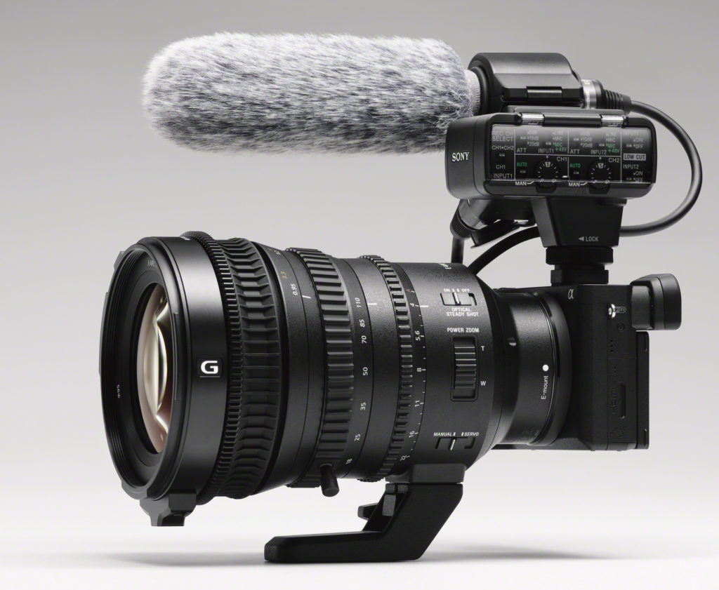 VIDEOKAMERA: Sony a6500 stasjet opp som profesjonelt videokamera. (Foto: Sony)