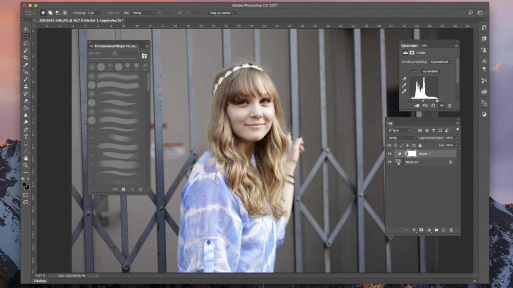PHOTOSHOP 2017: Photoshop kan fremdeles fremstå som et komplisert program, men har fått flere pedagogiske forbedringer. (Foto og skjermdump: Toralv Østvang)