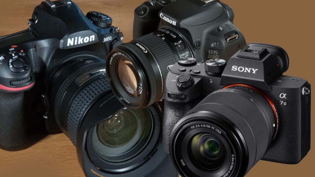 Nikon, Canon, Sony