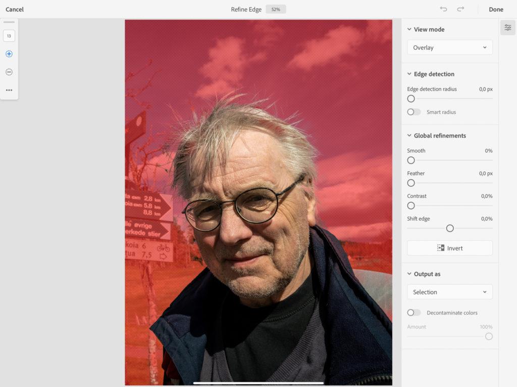 Refine Edge Photoshop iPad